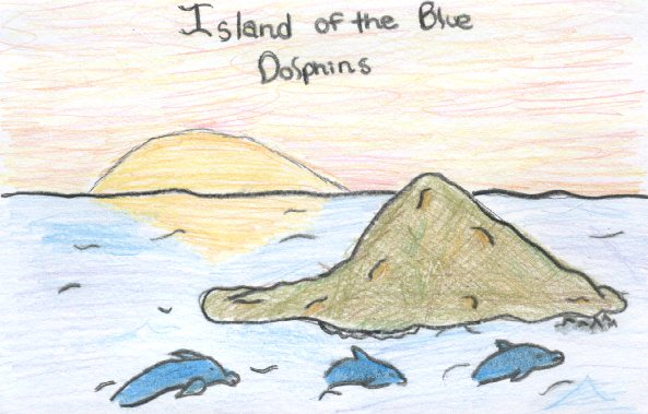 karana island of the blue dolphins drawing